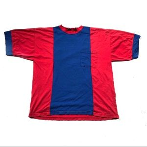 Super rad color block vintage 90's t-shirt